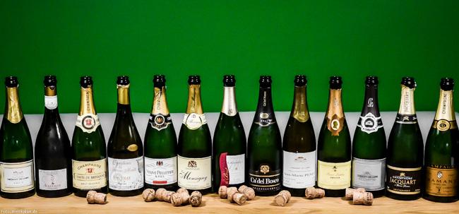 Billigchampagner und Cremants auf dem Weinkaiser-Prüfstand