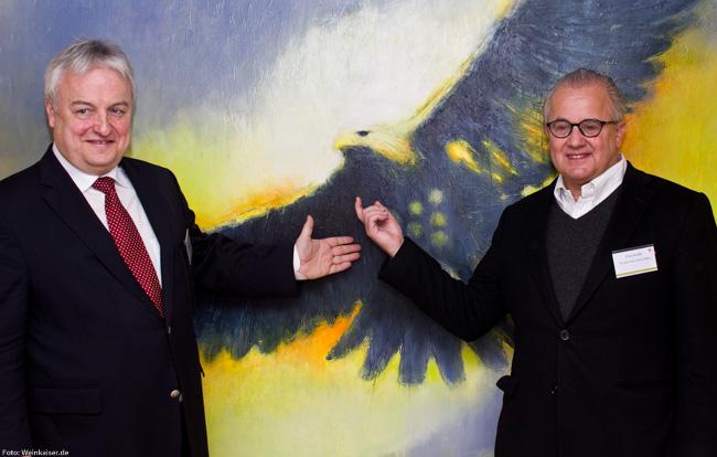 VDP Vize Joachim Heger mit Neumitglied Fritz Keller