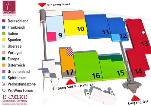 ProWein 2015 Messeplan