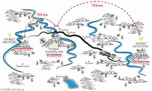 Die Transportrouten des Wurzelwerks. Bild: Wurzelwerk.org