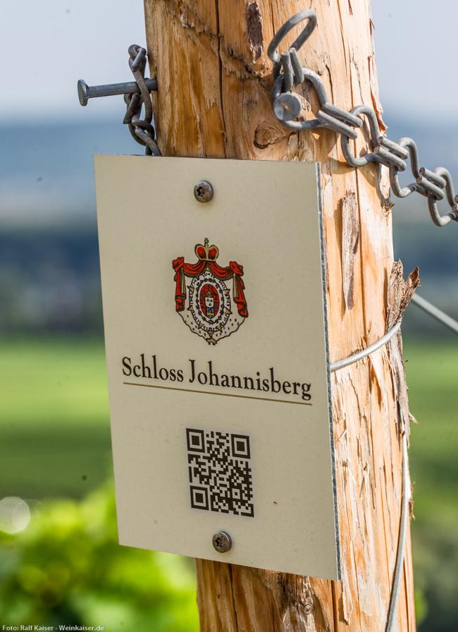 Schloss Johannisberger Weinbergsschild