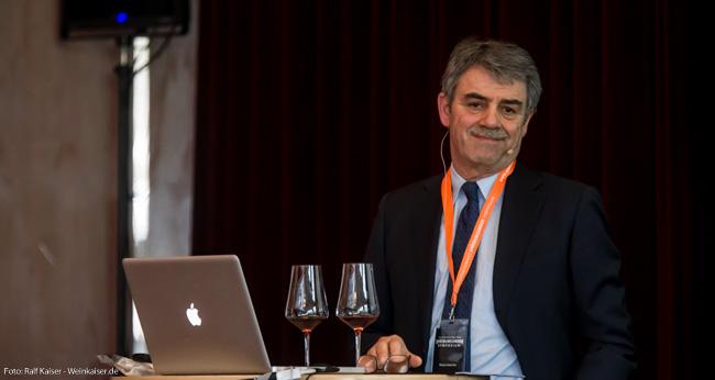 Renzo Cotarella, CEO and Chef Weinmacher von Marchesi Antinori beim International Pinot Noir Symposium 2017
