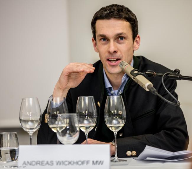 Andreas Wickhoff MW bei der Masterclass Sauvignon Blancs
